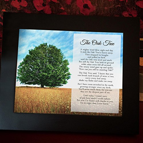 Oak Tree Plaque - Oak Tree Poem- PRINT ONLY