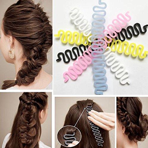 1pcs Simple Magic Hair Twist Styling Clip Stick Bun Hairstyle Maker
