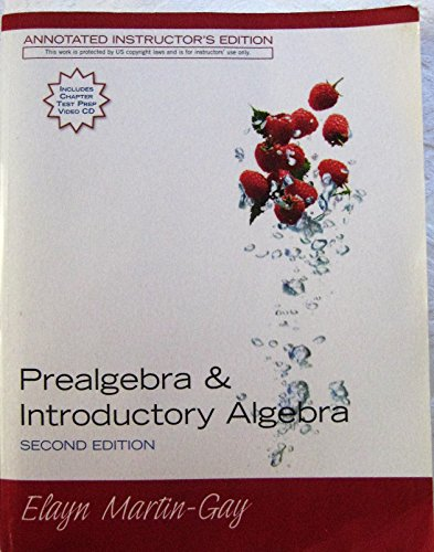 Prealgebra & Introductory Algebra : Second Edition:  Annotated Instructor's Edition