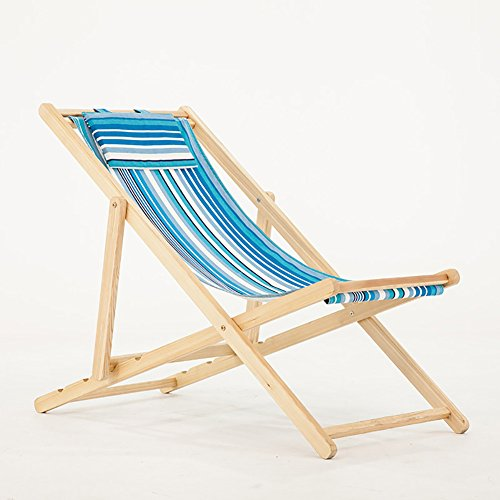 ZXL Fold Recliners Beach Chair Canvas Outdoor Swimming Pool Outdoor Balcony Leisure Chair (Color : Style2)