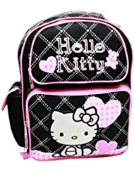 Black and Pink Hello Kitty Medium Backpack - Hello Kitty School Bags
