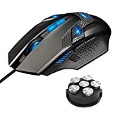 TeckNet Gaming Mouse, Wired Computer Gaming Mouse with Programmable Buttons, 7000DPI, Breathing Backlit LED, 8 Buttons, Ergonomic Grip Game Mice for PC Gamer