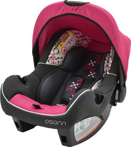 Osann Babyschale BeONE SP, (0 -13 kg), ECE Gruppe 0 +, von Geburt bis ca. 15 Monate, mit Verdeck, Corail Framboise Pink