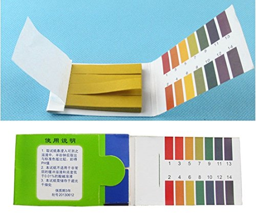 80 Tester Matchless Popular pH Test Strips Litmus Indicator Universal 1-14 Paper Scale with Color Chart (Touch For Health Reference Chart)