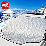 OASMU Car Windshield Snow Cover Magnetic Edges,4-Layer Car Sunshade Ice Removal Wiper Visor Protector Stop Scraping Winter Summer Auto Sun Shade for Cars Trucks Vans and SUVs (61.8in49.6in)