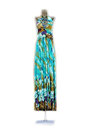 Paule Trevelyan NEW estilo Boemia primavera vestido de seda praia moda vestido de gola V sexy
