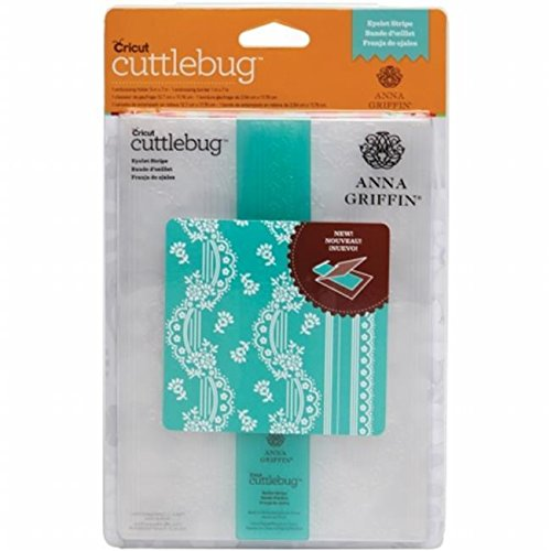 Cuttlebug 5 in. x 7 in. Embossing Folder-Border Set-Anna Griffin Eyelet Stripe .supply.from:unbeatablesales Telisorynice