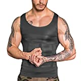 SAILORSTAR Men Compression Shirt Gynecomastia Body Shaper Vest for Slimming Chest Stomach (Black1, Large/38.2-42.1 inch Waist)