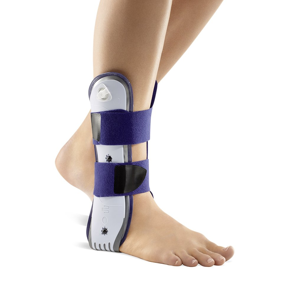 Bauerfeind - AirLoc - Ankle Brace - Right Ankle - Helps Stabilize Capsular Ligaments of Upper Ankle, Prevents Ankle Twisting, Adjustable & Inflatable Air Cushions - Color Titanium by Bauerfeind