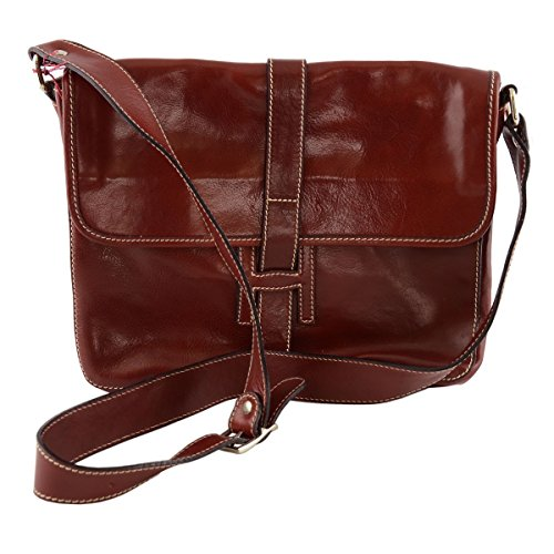 Bag Made Man Red Leather Color Italy Tuscan In wIICqv