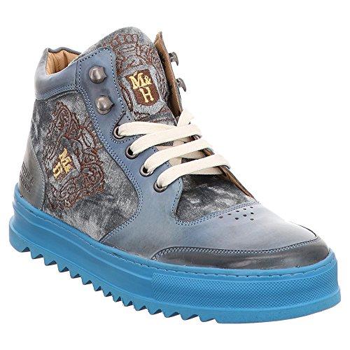 Melvin&Hamilton Maxima 1 - Zapatillas de Piel Lisa Para Mujer Azul Azul Azul