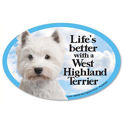 Prismatix Decal Cat and Dog Magnets, West Highland - West Magnet Terrier Highland