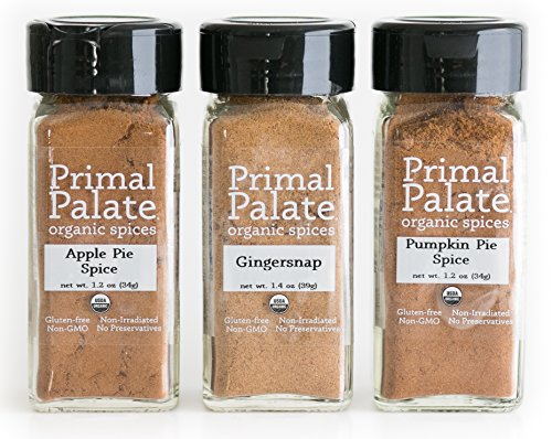 Primal Palate Organic Spices - Sweet Pack 3-Bottle Gift Set by Primal Palate Organic Spices