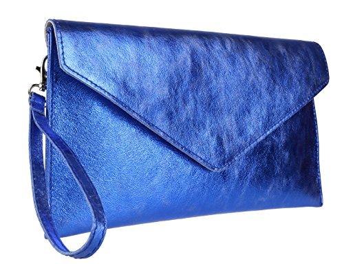 Bolsos Femeninos Metálica De Azul Real Embrague Rebecca Para Mujer 44dqxnvr7w