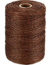 Allure Maek Floral Wire Vine Wire Bind Wire Rustic Wire Wrapping Wire for Flower Bouquets (Brown, 673 Feet)
