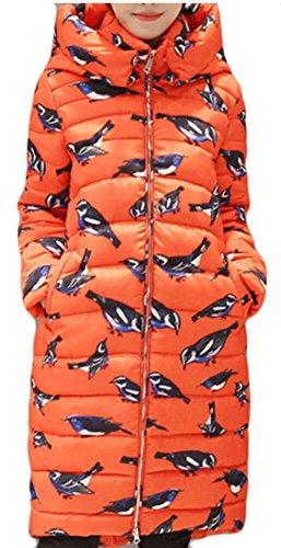 Women's Sleeve Long M Long Down Fashion amp;W Red Coat amp;S Hooded S44awAq