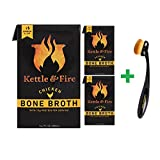 Kettle & Fire, Bone Broth, Chicken, 16.2 fl oz (480 ml)( 3 PACK )+ Bdellium Tools, Studio Series, Face 950, Oval Multi-Purpose, 1 Brush