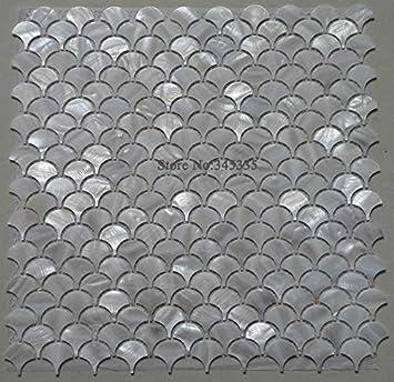 Kykdy 11 Stucke Weiss Fischschuppenschale Mosaik Fliesen Perlmutt