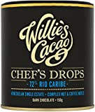 Willie's Cacao Chef's Drops 72 Caribe Rio 150 g (Pack of 3)