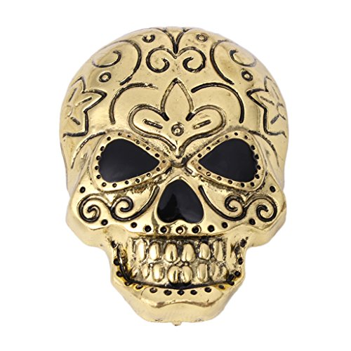 [Gigory Fashion Halloween Brooch, Alloy Punk Skull Vintage breastpin Pin Costume Jewelry Party Gift (Gold)] (Punk Costume Diy)