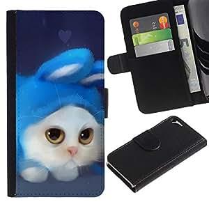 All Phone Most Case / Oferta Especial Cáscara Funda de cuero Monedero Cubierta de proteccion Caso / Wallet Case for Apple Iphone 5 / 5S // Funny Cute Cat