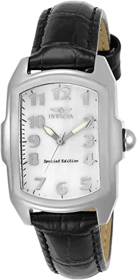 Invicta Women's Lupah 29mm Stainless Steel and Leather Strap Quartz Watch Set, Multi-color (Model: 5168)