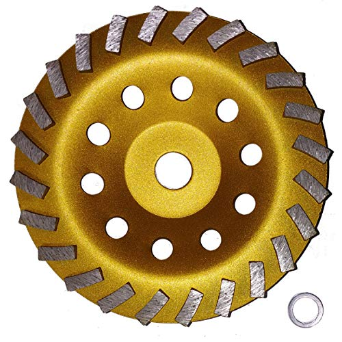 "7"" Concrete Turbo Diamond Grinding Cup Wheel for Angle Grinder 24 Segs from Platinum Blades"