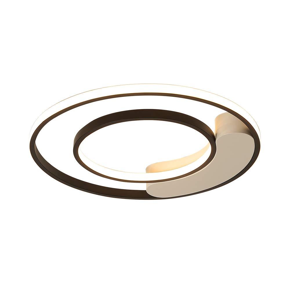 遠隔調光対応の居間の廊下の光沢のアルミニウム円形の天井灯のための寝室の天井のシャンデリア,WarmWhite,64W 64W WarmWhite B07TQMNZNH