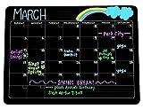 Refrigerator Magnetic Black Chalkboard-Style Monthly Dry Erase Calendar
