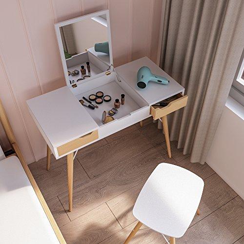 Jamesdar JBTAB479-SA Blythe Vanity Table, White ()
