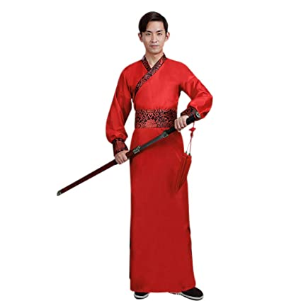 Amazon.com: DAZISEN Mens Hanfu Chinese Style Clothing Tang ...