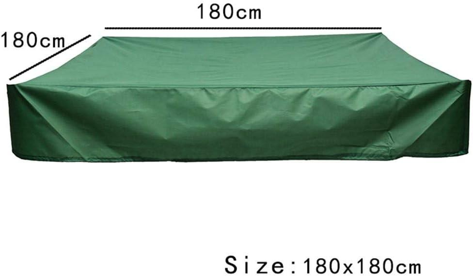 120X120cm UV-best/ändige Quadratische Sandkastenabdeckung Plane Abdeckplane Mit Kordelzug tingtin Sandkastenplane Staubdichte wasserdichte Sandkasten-Abdeckung