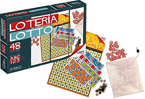 Madera Counter - Loteria . 48 Cartons Imported from Spain. With wood numbers