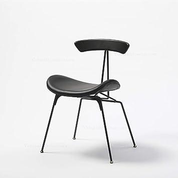 TGDY Stühle Esszimmer Wohnzimmer, Moderne Design Küche Hochwertige  Eisen Struktur PU Kissen Hocker