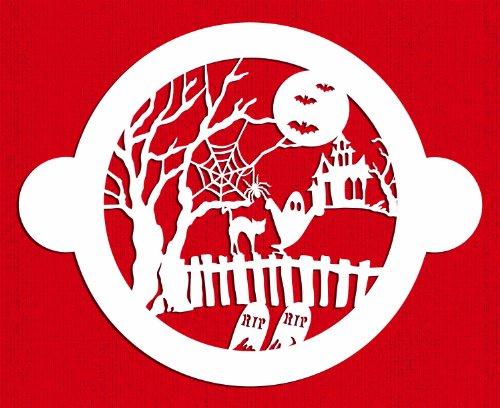 Designer Stencils C459 Halloween Cake Fright Top Stencil, (Decorating Halloween Cakes)
