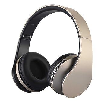 SUAVER Over-oreja Bluetooth Auriculares Estéreo, Plegable Auriculares Inalámbrico Diadema con Micrófono Transmisión de música para Smart Phones Tablet ...