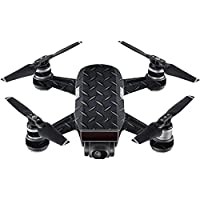 Skin For DJI Spark Mini Drone – Black Diamond Plate | MightySkins Protective, Durable, and Unique Vinyl Decal wrap cover | Easy To Apply, Remove, and Change Styles | Made in the USA
