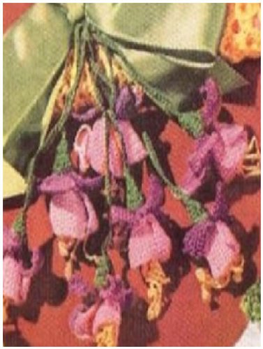 - #0849 FUCHSIA HANGER VINTAGE CROCHET PATTERN