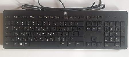 HP Teclado hebreo Business Slim USB KU-1469: Amazon.es ...