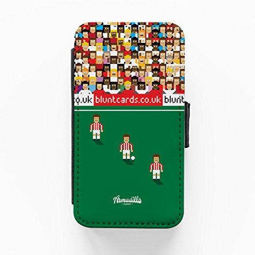 Stoke 8bit Hochwertige PU-Lederimitat Hülle, Schutzhülle Hardcover Flip Case für iPhone 4 / 4s vom Blunt Football + wird mit KOSTENLOSER klarer Displayschutzfolie geliefert
