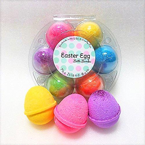 6 Eggies In The Bath - Kids Bath Bomb Gift Set - The Island Bath & Body-Made In USA- Shea & Cocoa (Purple Sour Patch Kid)