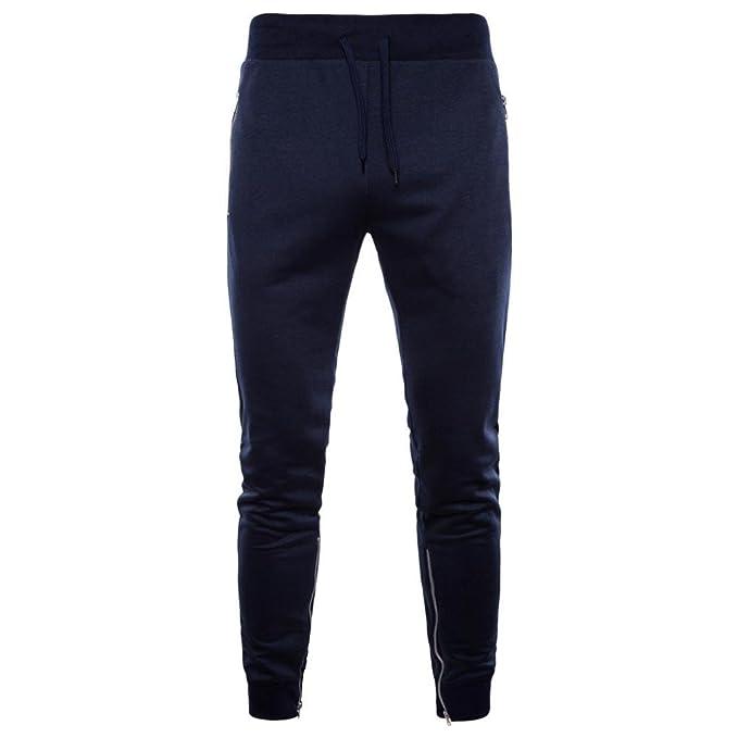 BYSTE Pantaloni Uomo Moda Pantaloni della Tuta Cargo con Tasche ... ff3d8ce3511