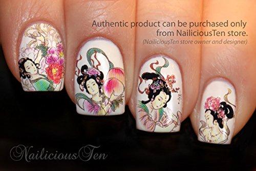 Japanese Geisha Nail Art Water Transfer Decal 15pcs Buy Online In