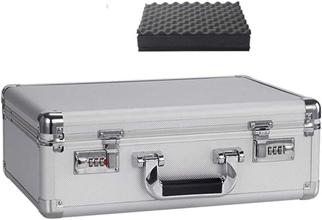 Cuadro Archivo portátil de Herramientas Organizador de Aluminio Contraseña la Caja de Dinero Gran Capacidad de Almacenamiento Caja de Seguridad Flight Case de Aluminio: Amazon.es: Hogar