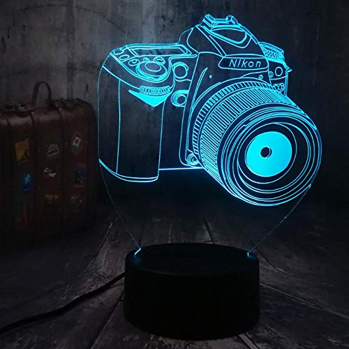 Kreatives Spielzeug 3D LED Nachtlicht ändern Touch Schreibtischlampe Kid Toys Weihnachtsgeschenk Fotograf Home Decor7…