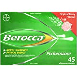 BEROCCA Original Performance Berry Flavour Effervescent 45 Tablets