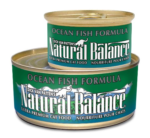 Natural Balance Canned Cat Food, Ocean Fish Recipe, 24 x 6 Ounce Pack, My Pet Supplies