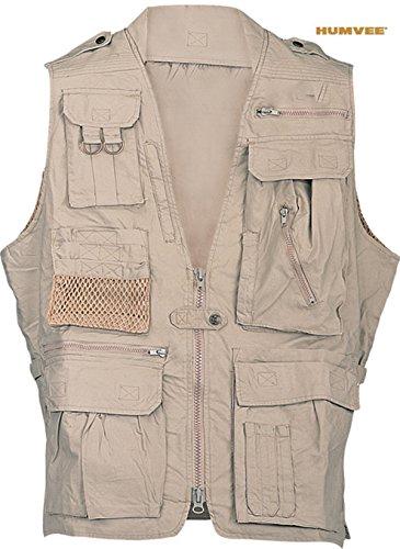 Humvee Photo Safari Vest, Khaki, L HMV-VS-K-L