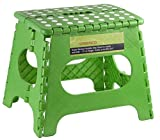 Greenco Super Strong Foldable Step Stool for Adults and Kids - 11 inches in Height, Holds up to 300 Lb