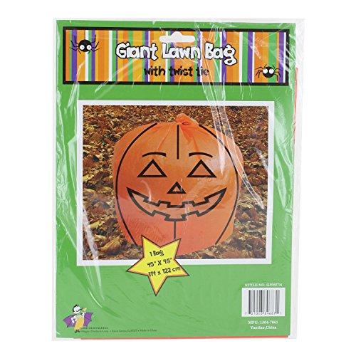 "Halloween Fall Giant Pumpkin Lawn Leaf Leaves Bag, 45"" x 48"""